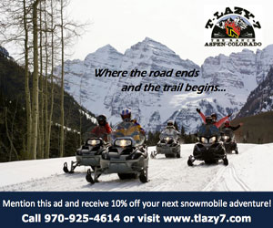 T Lazy 7 Ranch : Snowmobiling.