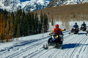 T Lazy 7 Ranch - Premier Snowmobile Trips! :: Aspen's premier snowmobile tour provider. All tours include experienced, knowledgeable guides. Snowmobile tours to the Maroon Bells, Independence Pass, & Klondike Cabin.