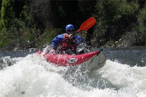 Aspen Whitewater Rafting - Ducky Trips :: Paddle your self down the Roaring Fork River in a Ducky inflatable raft! Enjoy fun, challenging rapids with 1-2 guides. Great for families & kids!