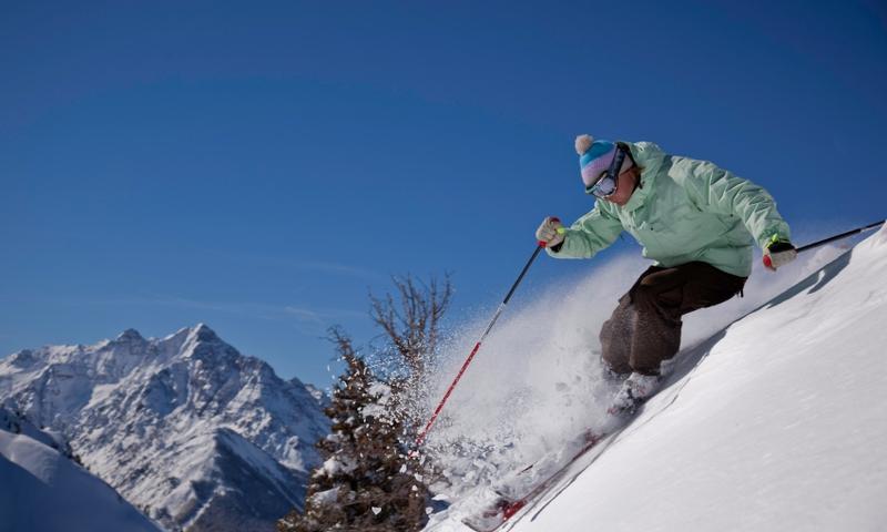 Skier at Aspen Highlands Resort