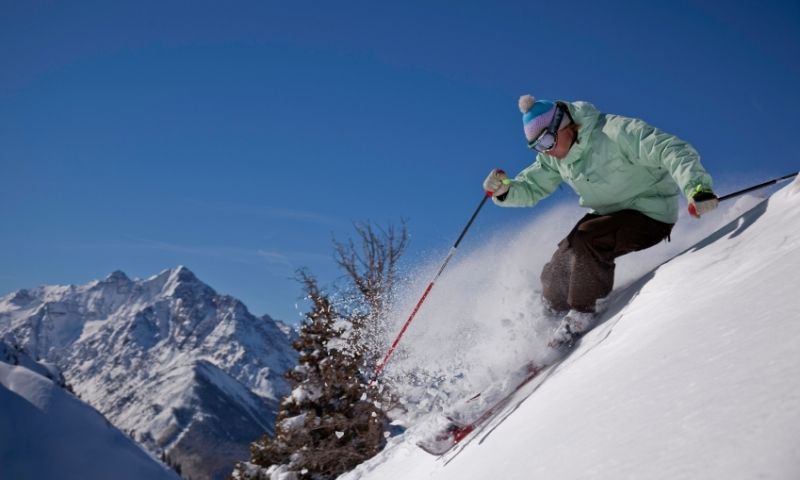 Skier at Aspen Highlands Resort