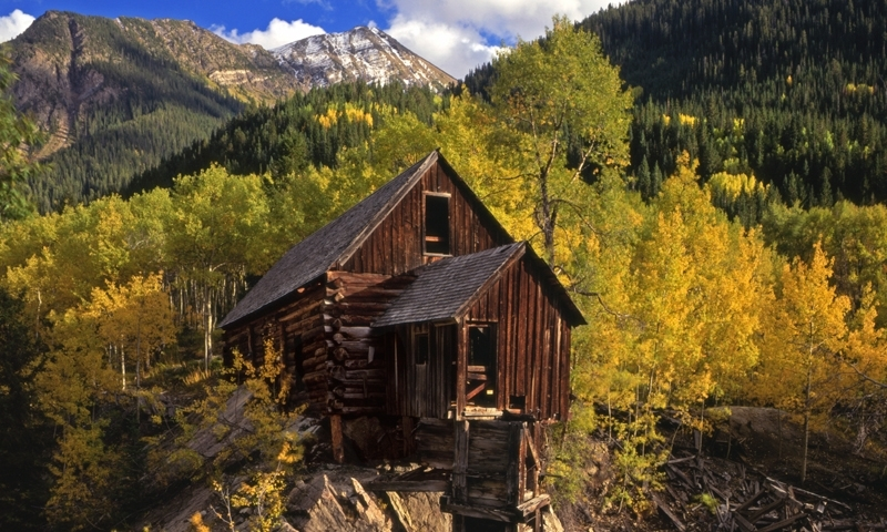 The Crystal Mill in White River National Forest