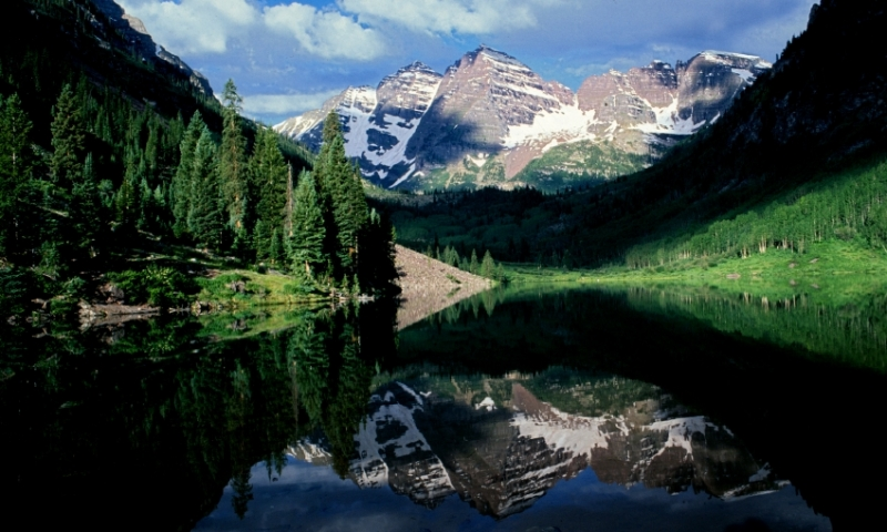 Maroon Bells Colorado Mountains Mountain Peak Aspen White River National Forest