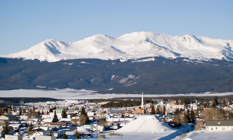 Mount Massive stands tall beyond Leadville