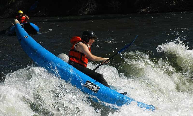 Inflatable Kayaks along the Roaring Fork River in Aspen
