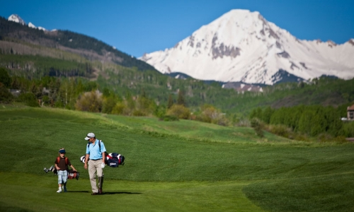 Golfing at Snowmass Club in Aspen Colorado