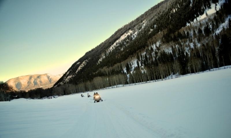 Snowmobiling in Aspen Colorado